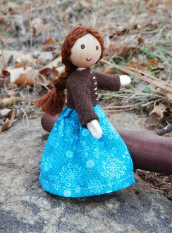 Natural Handmade Waldorf Inspired Miniature Dollhouse Family Doll ...