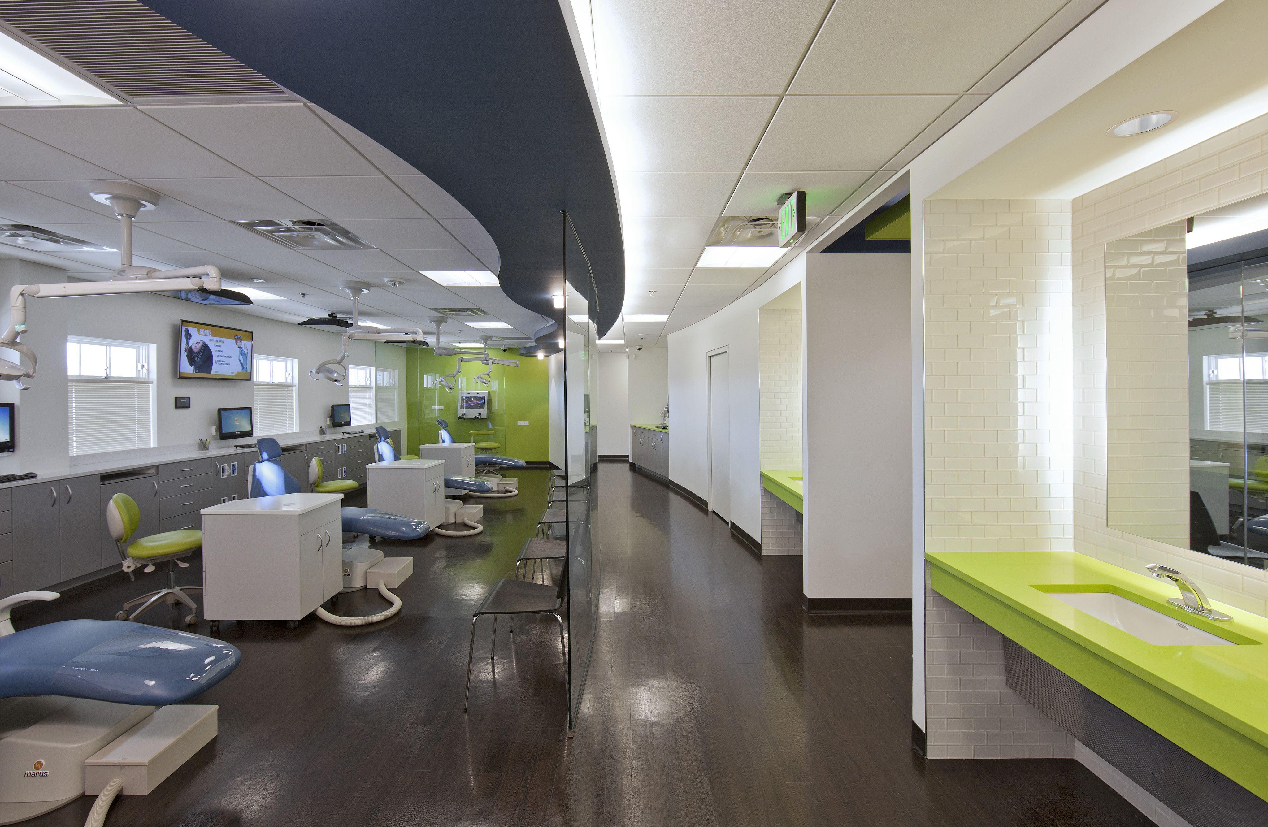 dental office colors. Dark Floors And Pop Colors In Room Dental Office