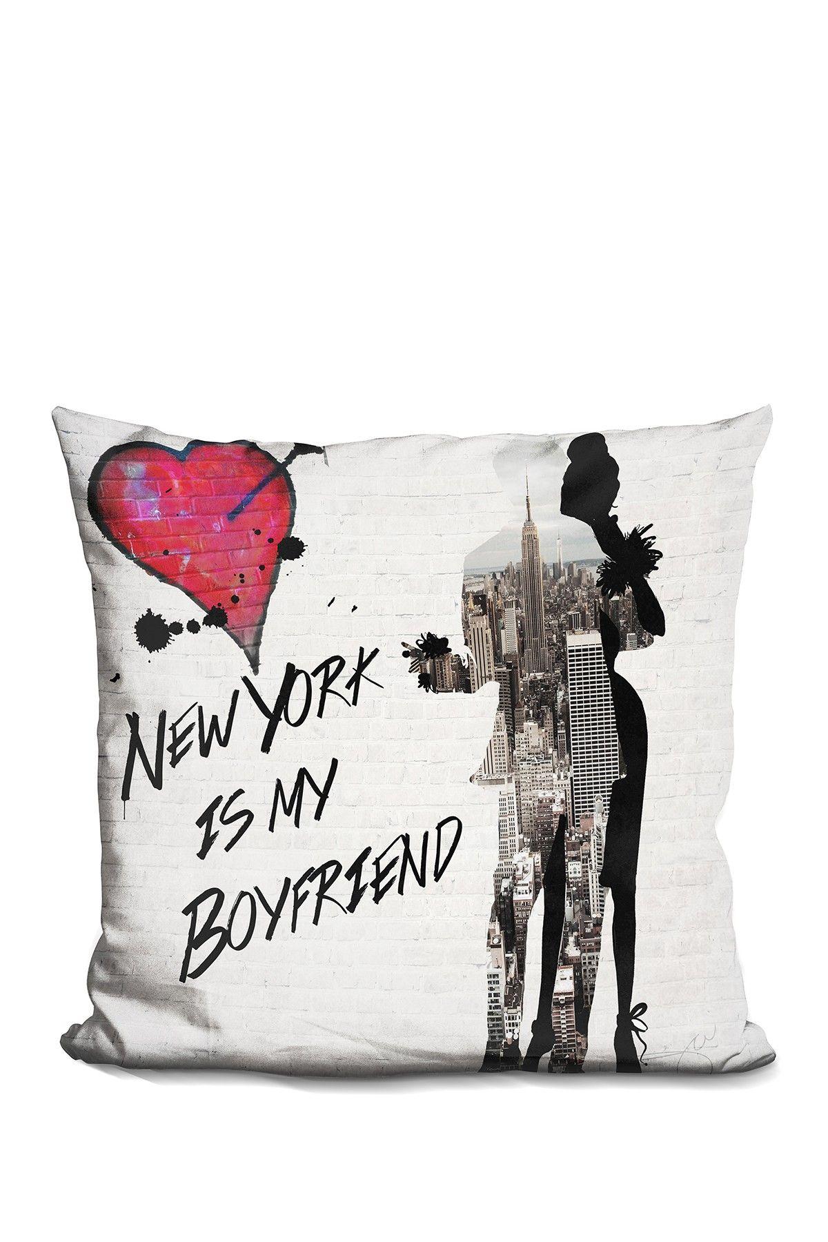 Lilipi brand new york is my boyfriend pillow home office