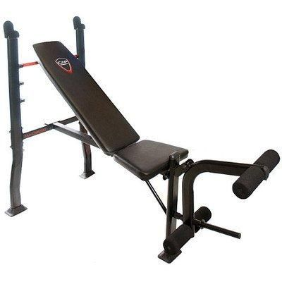 Cap Barbell Fitness Standard Weight Bench Black Includes