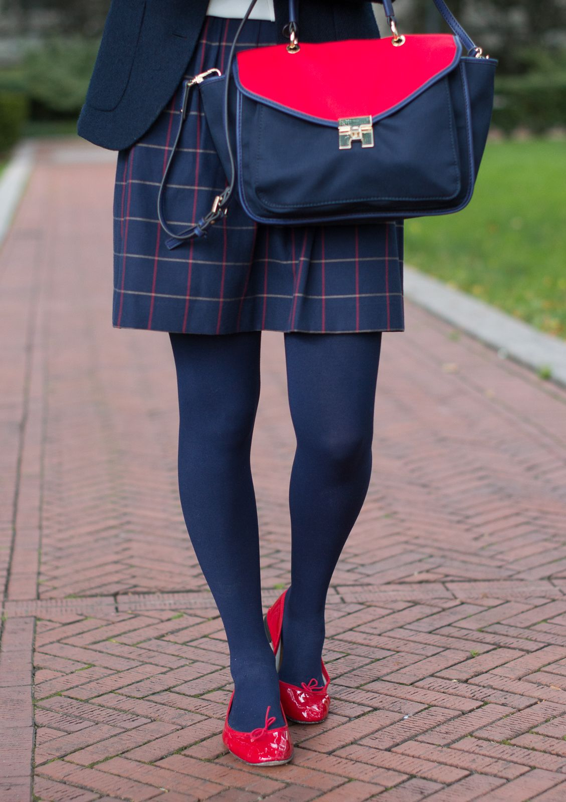 University Of Columbia Outfits Navy Blue Tights