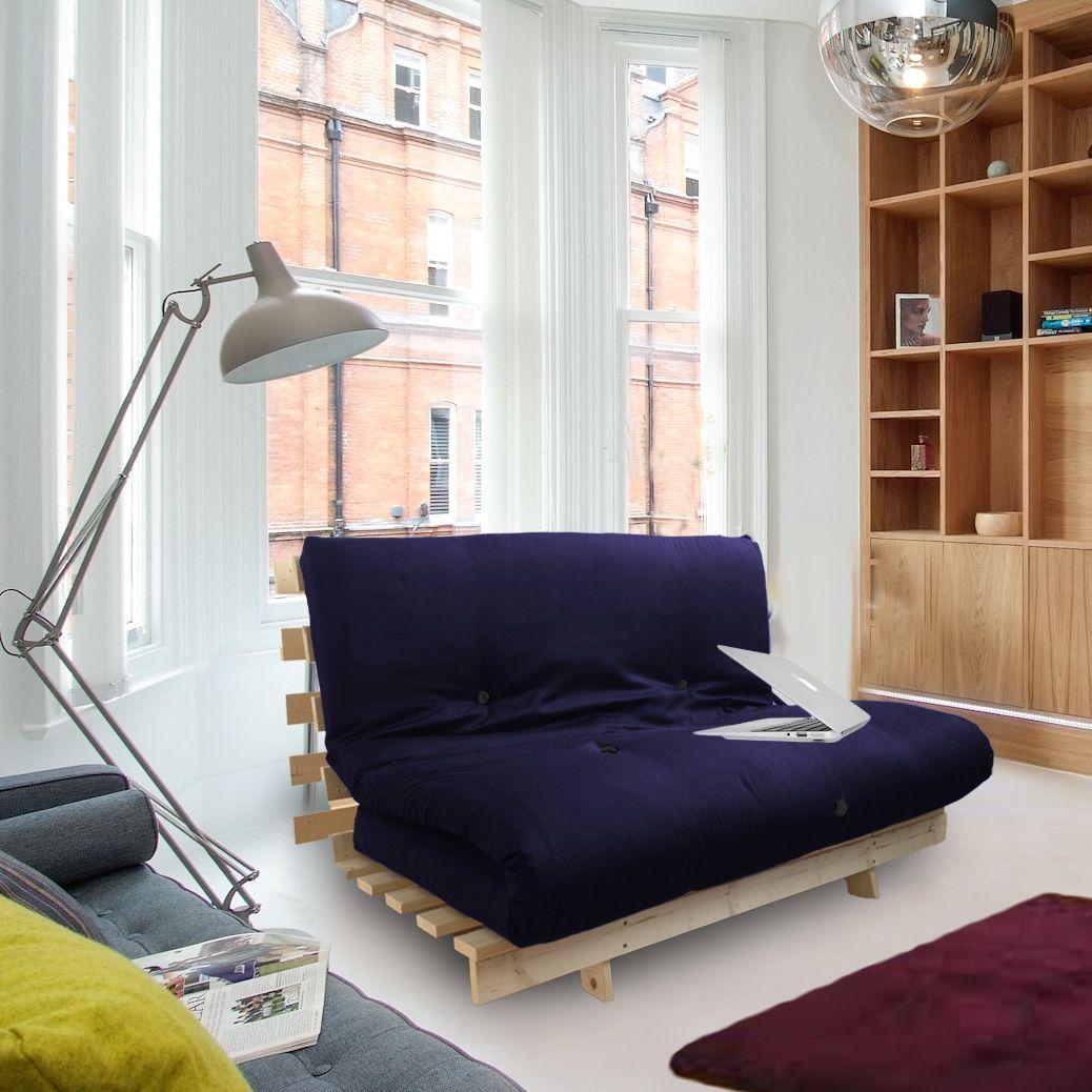 Futon Wooden Frame Sofa Bed