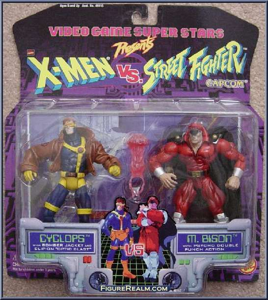 Cyclops vs. M. Bison from X-Men - vs Street Fighter - Series 1 manufactured by Toy Biz