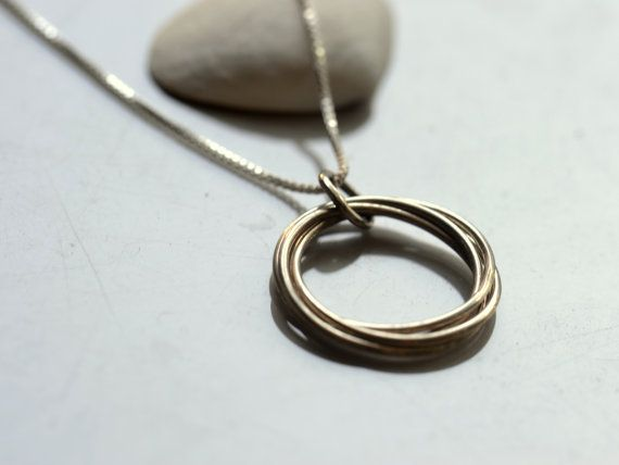 Twist Decade Necklace Sterling Silver 40th by SunshineOnWater