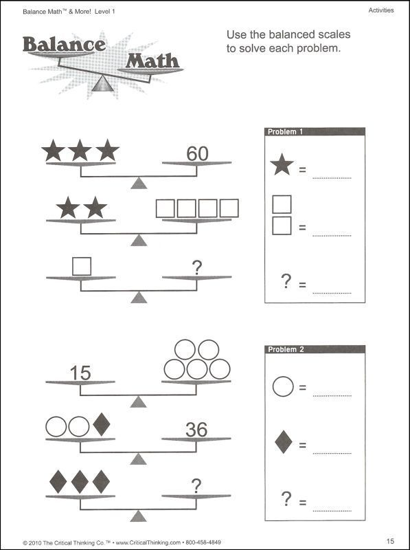 solving two step equations with balancing scales worksheet – Maths Level 1 Worksheets