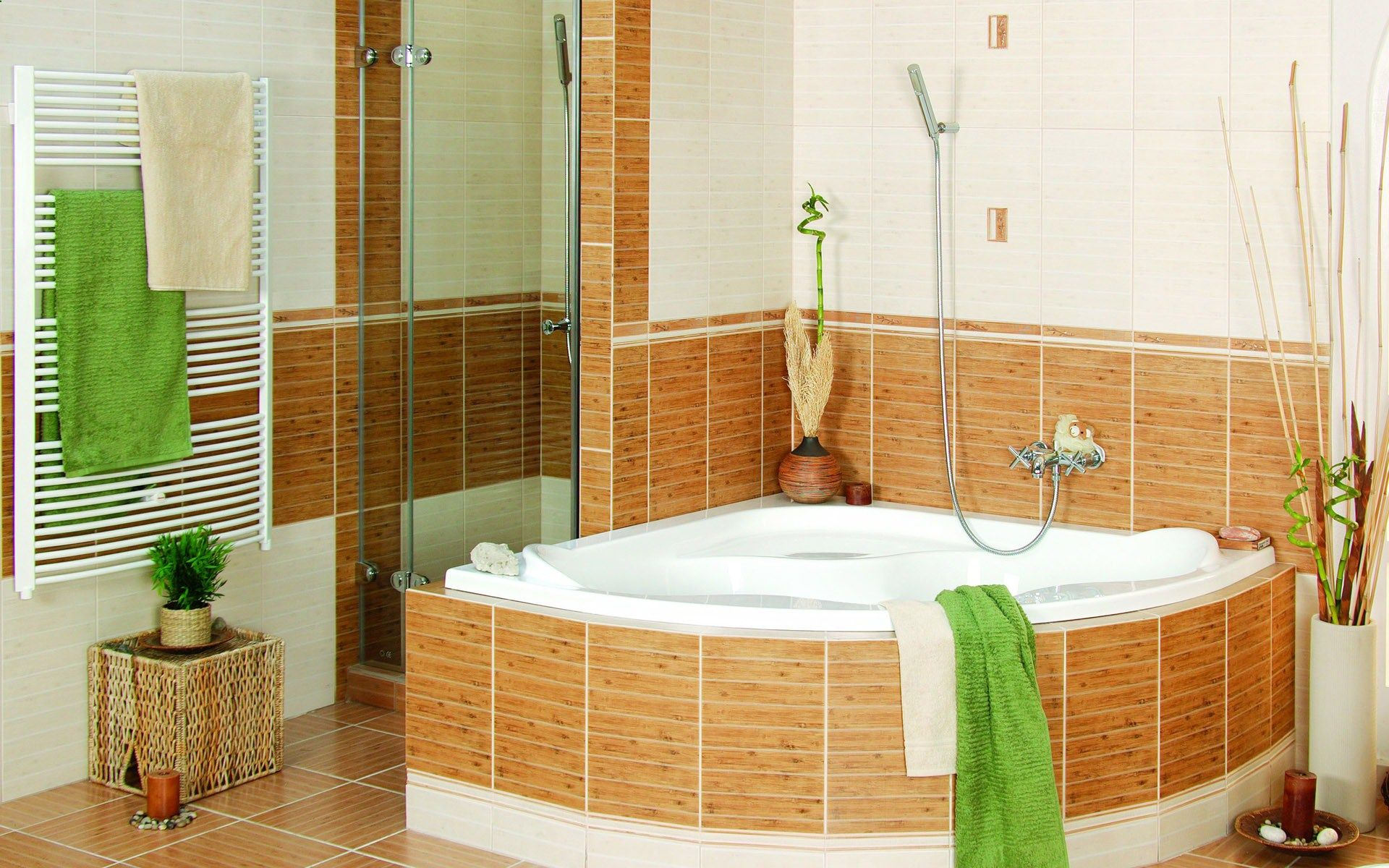 Bathroom Designs Decorate Small Bathroom Ideas Budget With Ceramic Floor White Color Designs Green Color Towel Nice Small Bathtub Nice Shower Picture Nice