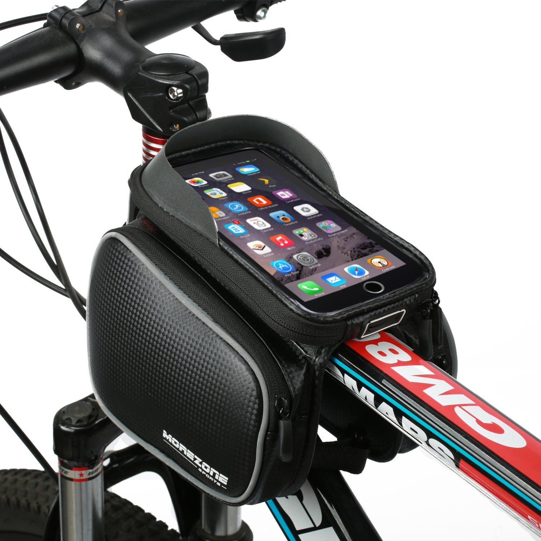 Bike Bag Morezone Cycling Bicycle Frame Bags Phone Mount Holder