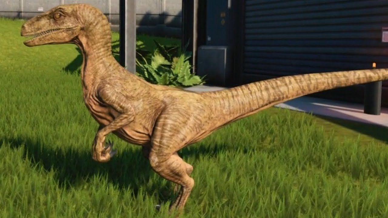 Jurassic World Evolution Velociraptor Arid Skin Gameplay Ps4 Hd