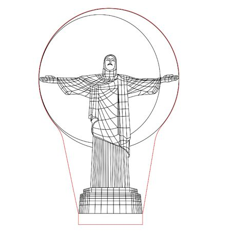 Christ Statue 3d Illusion Lamp Plan Vector File For Laser And Cnc 3bee Studio 3d Illusion Lamp Illusions 3d Illusions