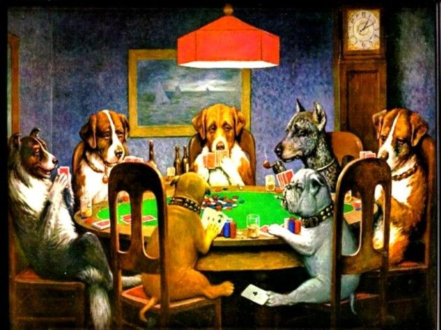 Dogs Playing Poker I Ve Always Loved This Picture One Day Maybe In The Game Room Dogs Playing Poker Most Famous Paintings Dog Art