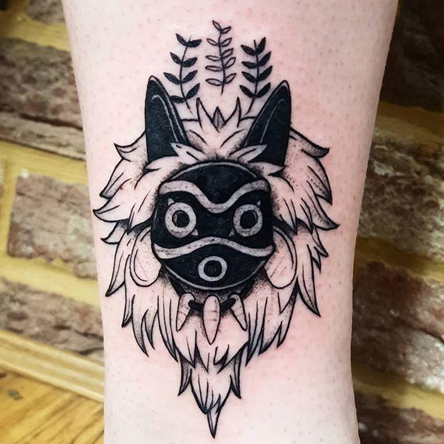 Animeink Hashtag On Instagram Photos And Videos Princess Mononoke Tattoo Mask Tattoo Tattoos