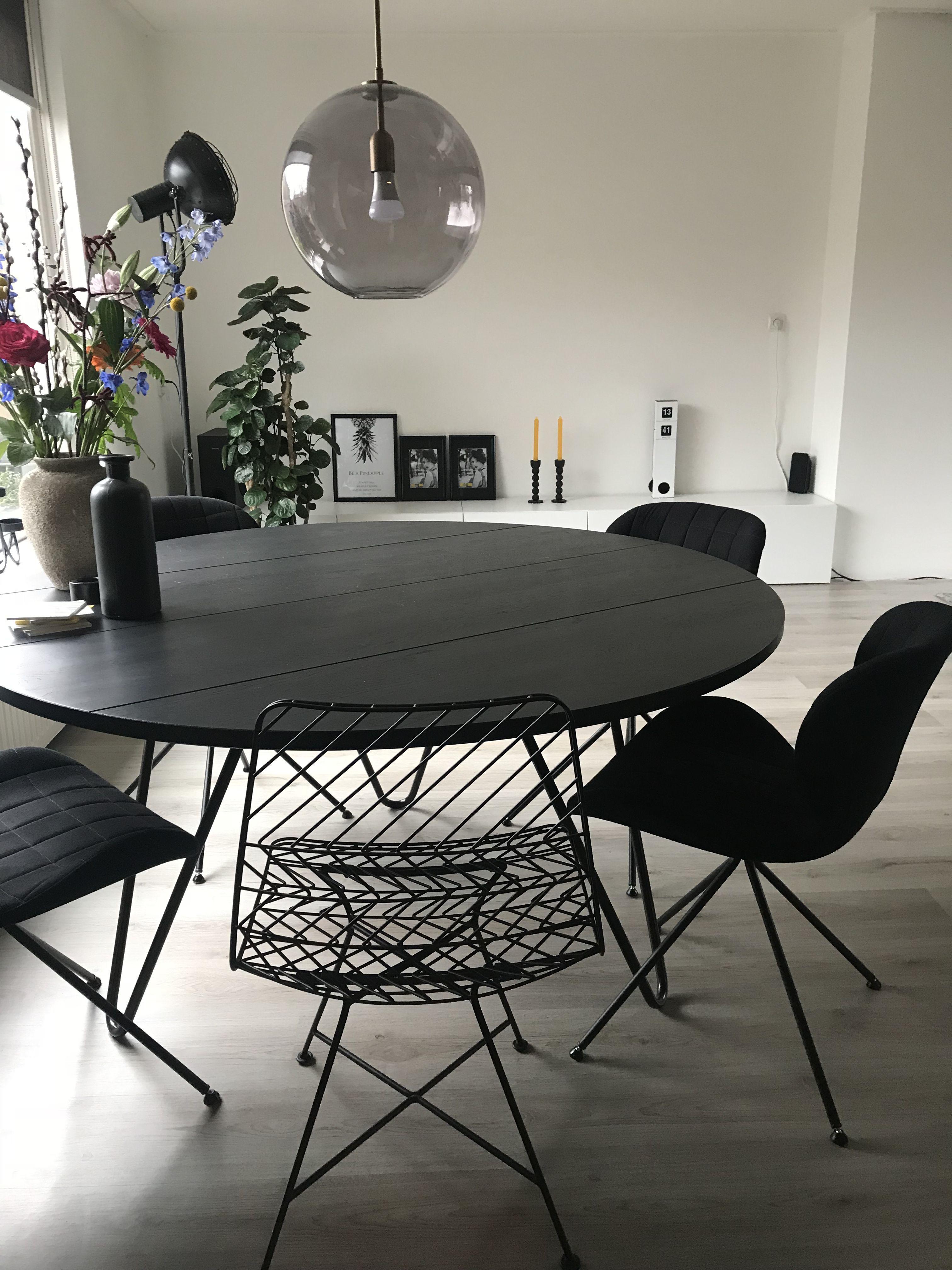 Ronde eettafel vt wonen  Ideeen huis  werkkamer in 2019