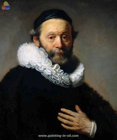 Portrait of johannes wtenbogaert detail | Van rijn Rembrandt ...