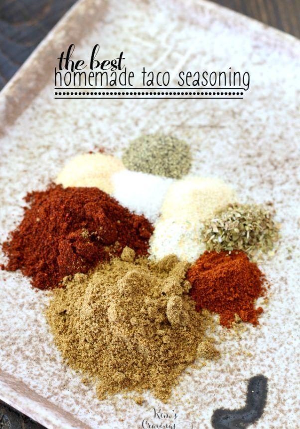 The Best Homemade Taco Seasoning #maketacoseasoning