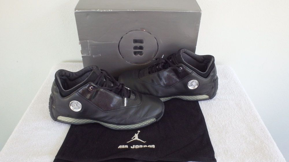 new york a1b47 3dfd5  306151-001  2003 Nike Air Jordan 18 XVIII Low Black Chrome Silver Sz 10.5  VNTG  Nike  BasketballShoes