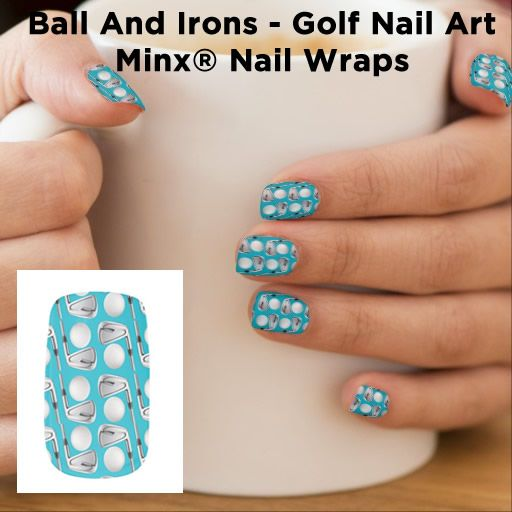 Ball And Irons Golf Nail Art Zazzlecom Nails Design Nail