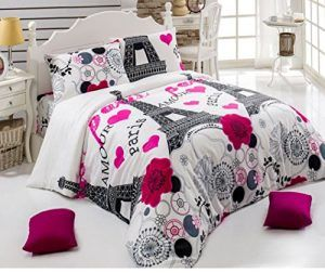 paris duvet cover set queen size eiffel tower themed paris bedding set paris double