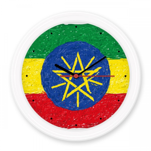 Red Yellow Green Stripes Ethiopia Flag National Cultural Element Silent Non-ticking Round Wall Decorative Clock Battery-operated Clocks Gift Home Decal #Wallclock #Red #Clock #Yellow #Wallwatch #Green #Kitchenclock #Stripes #Modernwallclock #Ethiopia #Digitalclock #Flag #Wallstickerclock #National #Homedecor #Cultural #DIY #Element #DIYclock #Homeclock