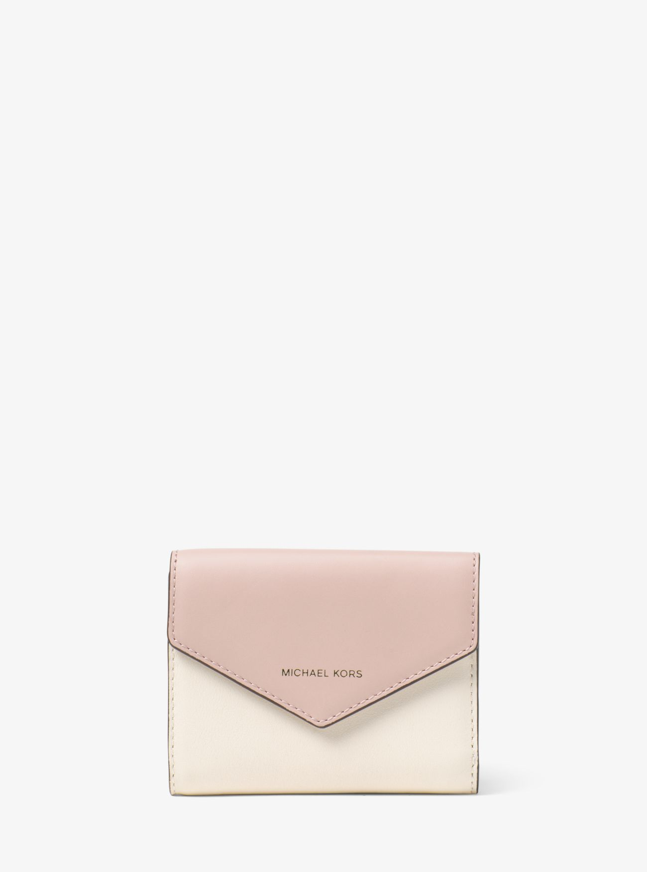 5ea88c2eaff ... card cases & coin purses on the official Michael Kors site. Jet Set  Small Color-Block Leather Envelope Wallet