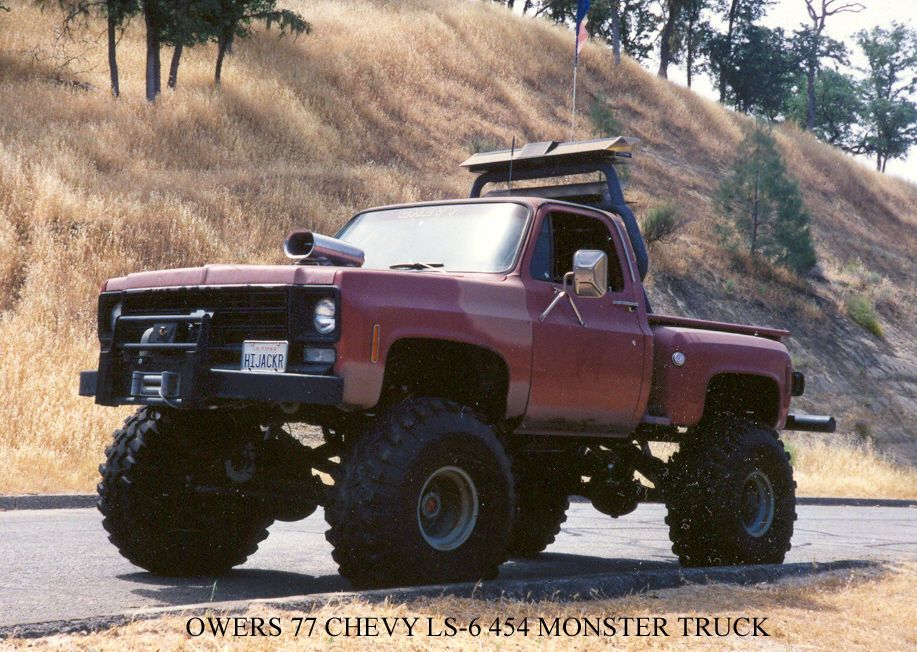 1977 chevrolet stepside 4 wheel drive monster truck monster trucks for sale pinterest. Black Bedroom Furniture Sets. Home Design Ideas
