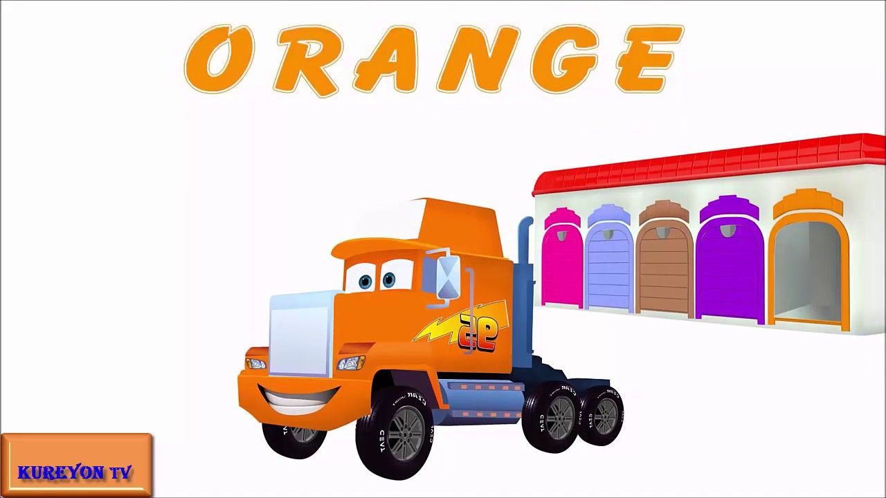 Learn Colors With Street Vehicles , Disney Cars Lightning McQueen ...