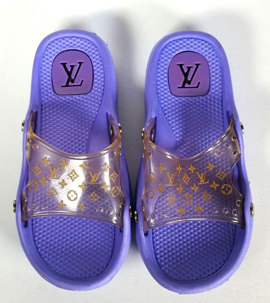 4ec562670b7c  580 LOUIS VUITTONS SHOES SPA Sandals SZ 7 Jelly Slides Beach Flipflops   PRIMO   LouisVuitton  Slides  Casual