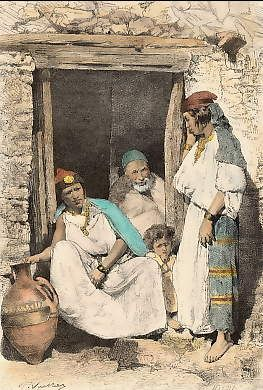 Types et costumes: Famille Kabyle