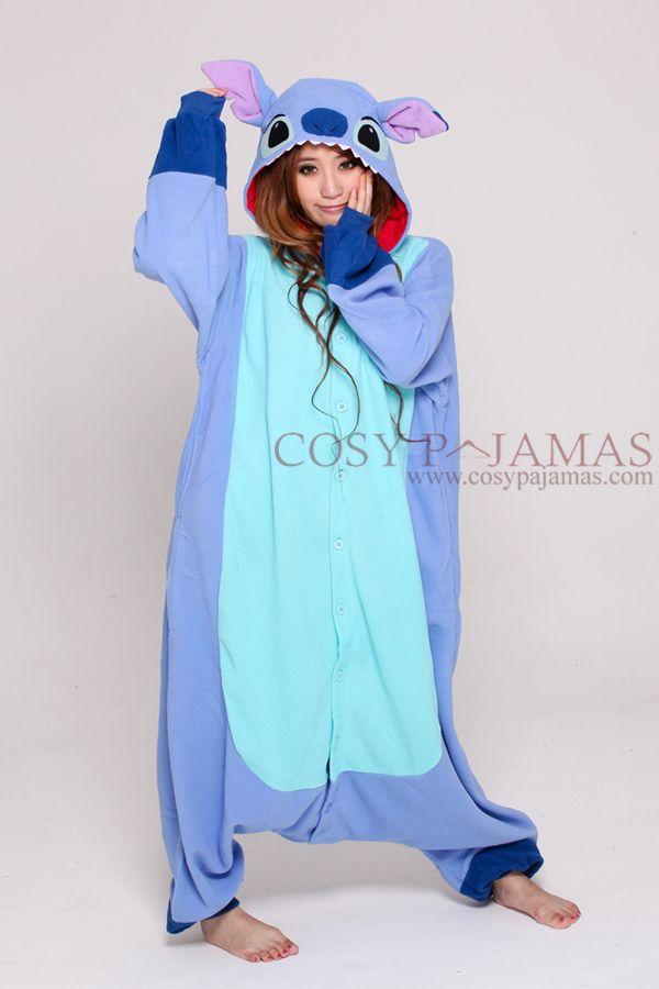 569f31499c59 Disney Stitch Onesie Kigurumi Pajamas | Products | Disney onesies ...