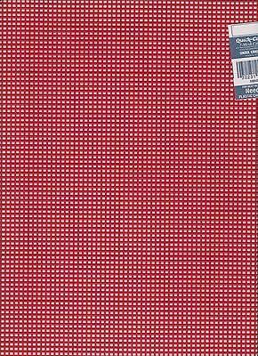 #7 Mesh Plastic Canvas Xmas Red 10.5 x 13.5