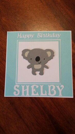 Create a critter koala birthday card.