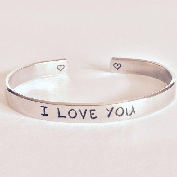 Aluminum Bracelet I Love You