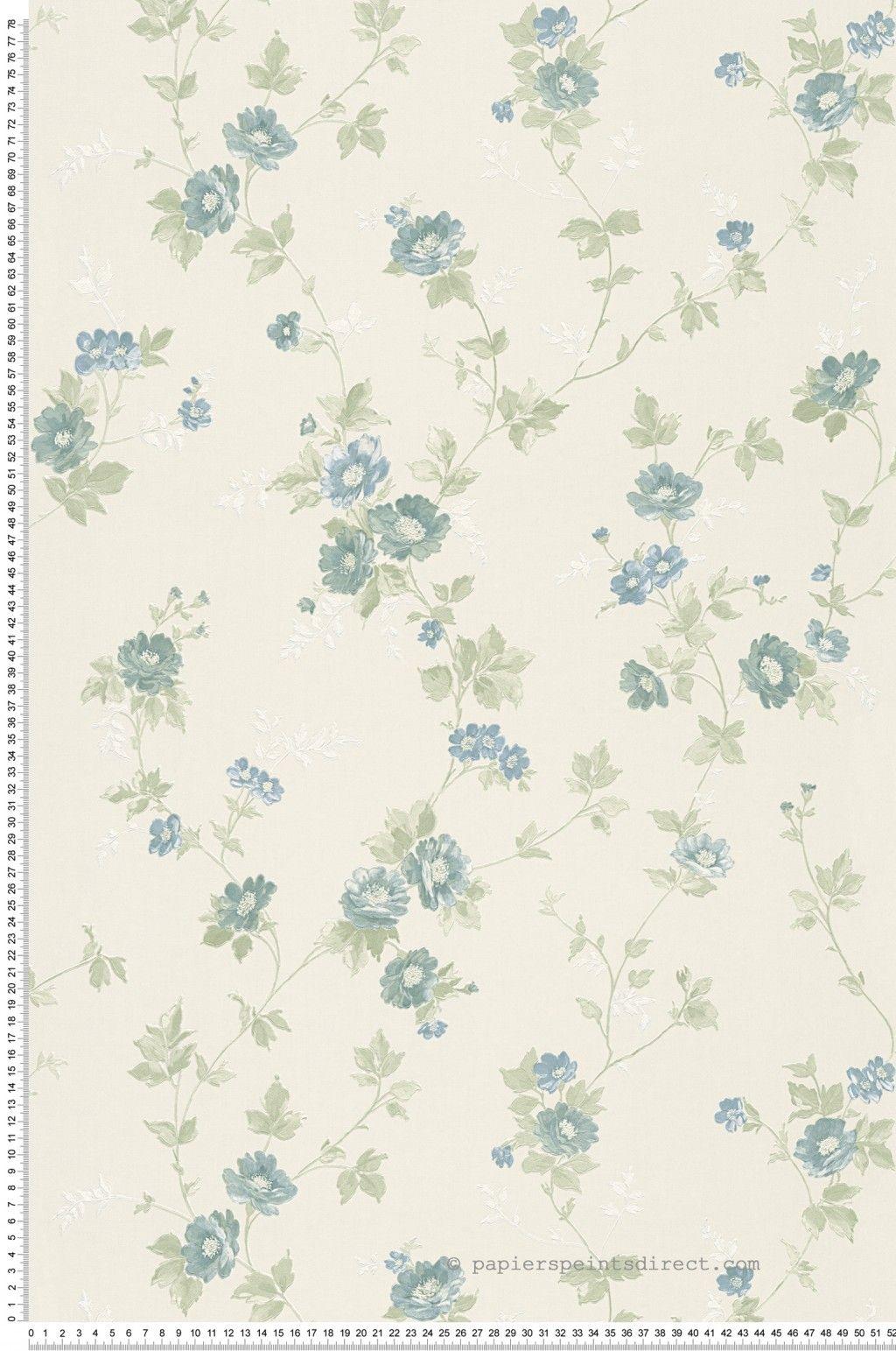 Petites fleurs bleues - Papier peint Romantica 3 d\'AS Création