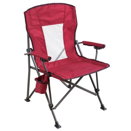 Ozark Trail Ozark Trail Mesh Hard Arm Chair Blue Red Ozark Trail