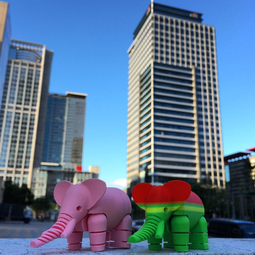Something we liked from Instagram! Printed by #86duino_enjoy #3dprinter #3dprinting #elephant by gentle_design check us out: http://bit.ly/1KyLetq