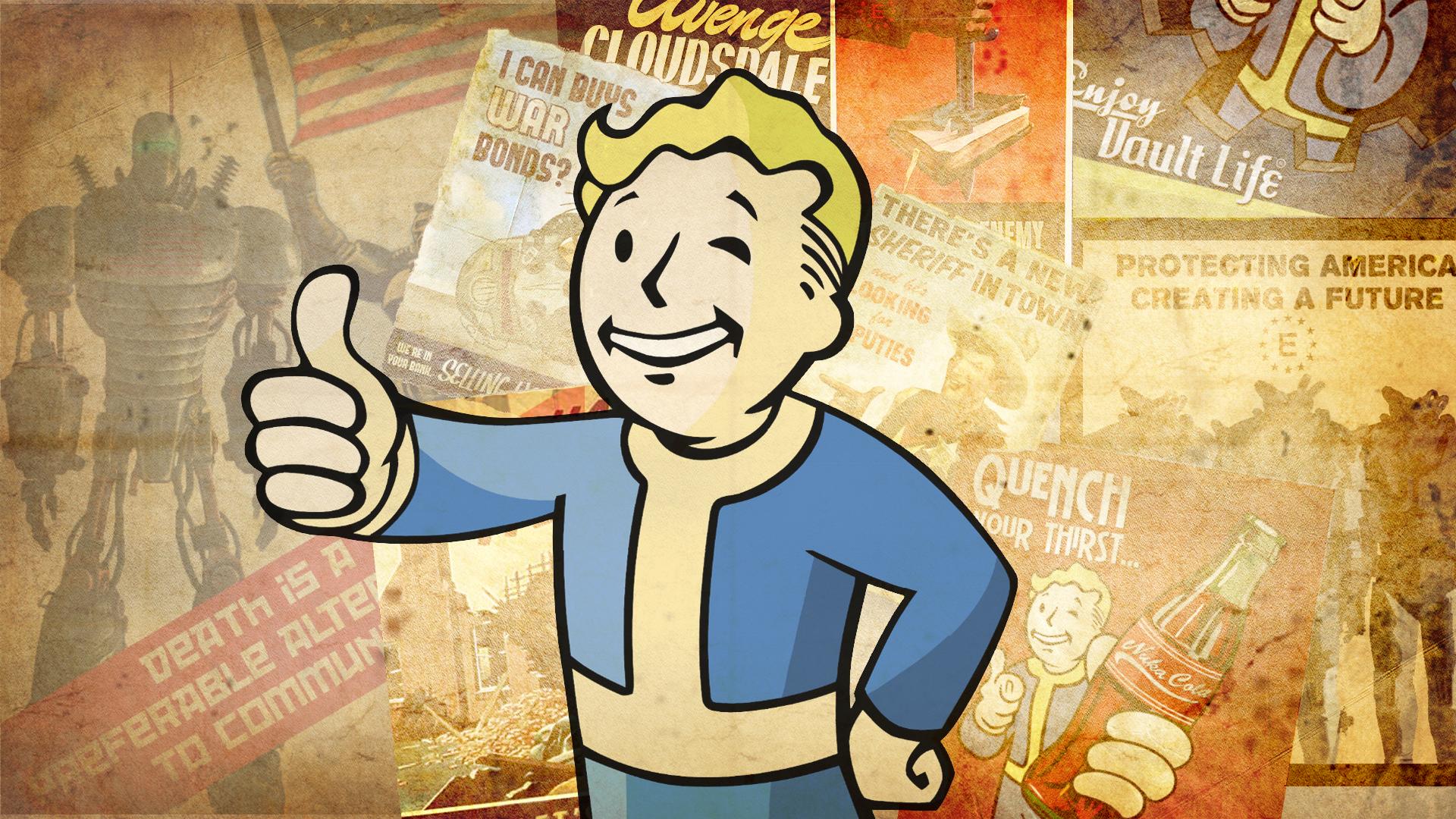 Fallout 4 Hd Wallpaper Vault Boy Fondos De Pantalla Dibujos