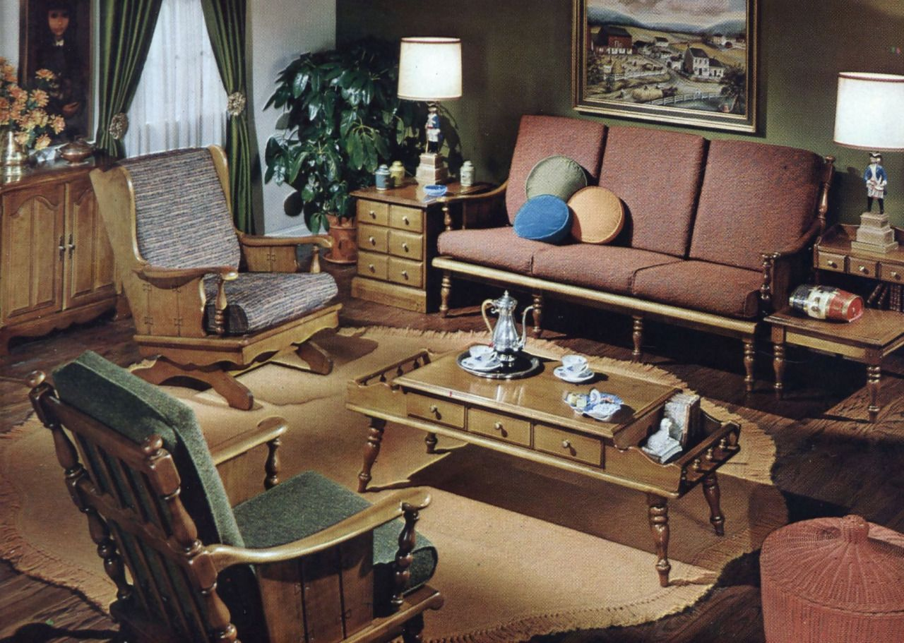 Living Room Decor 1963 The Giki Tiki Vintage Style Furniture