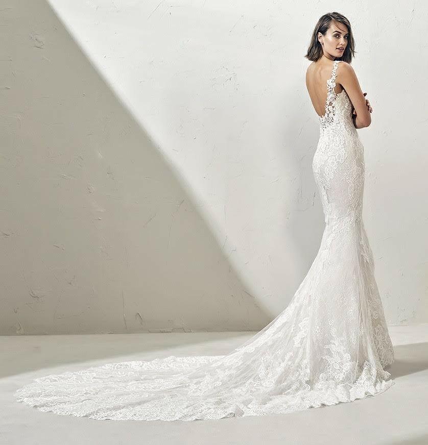 espectacular vestido de novia corte sirena. diseño adriana alier de