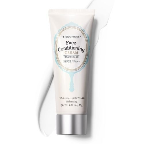 Etude House Face conditioning cream SPF25 PA++ 75g           Features   1.	This is a makeup boosting cream with Triple functions ( Whitening + Wrinkle Improvement + UV Blocking (SPF 35/pa ++) )   2.	IT has More than 65 % of moistu 11.88