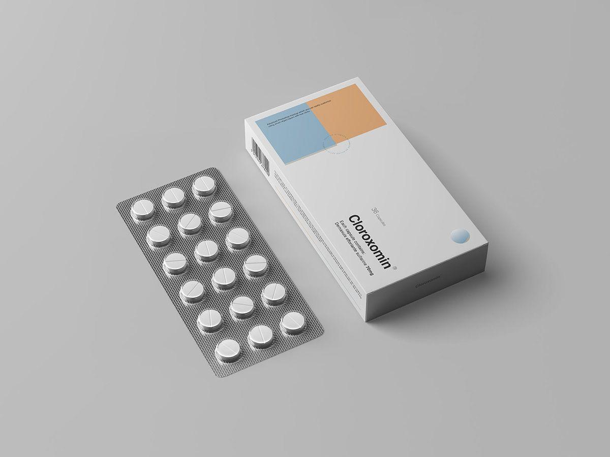Download Pills Box Packaging Mockup On Behance Packaging Mockup Box Mockup Box Packaging