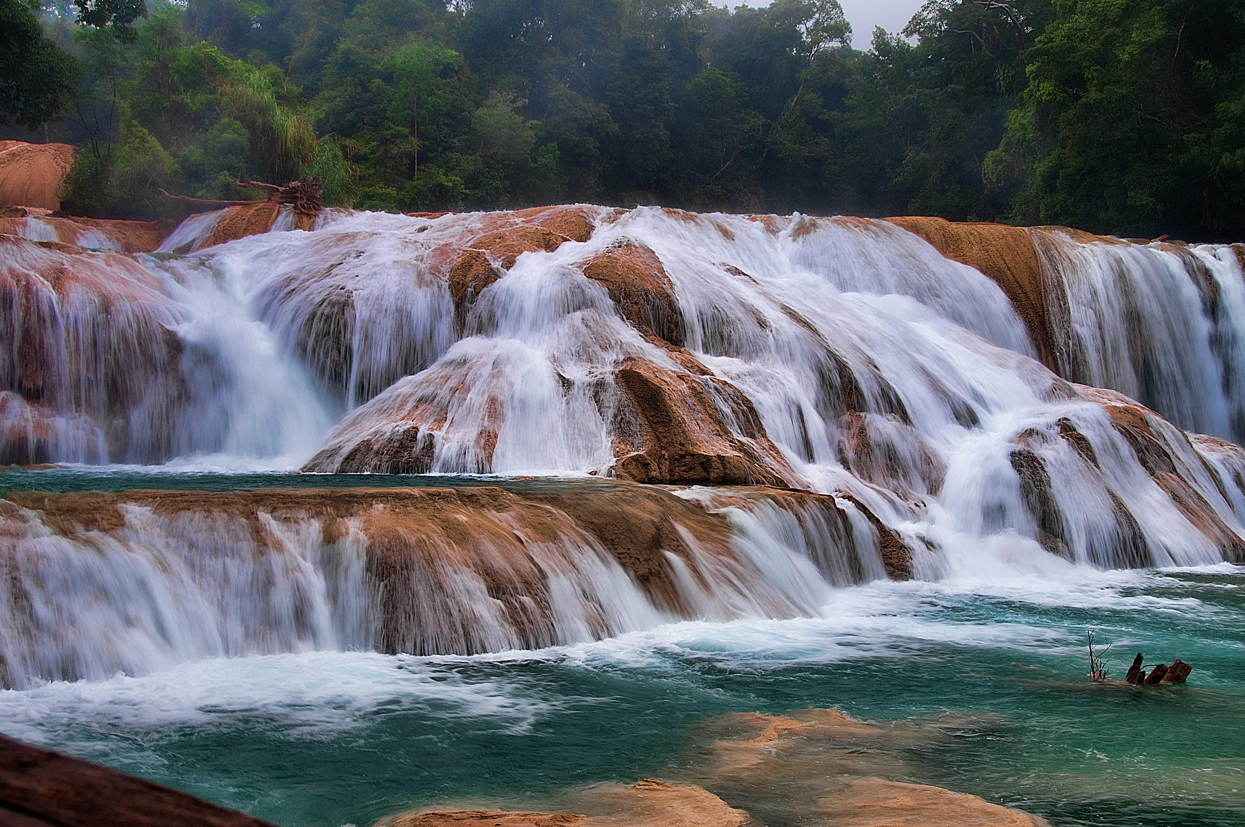 Cascadas de agua azul my world pinterest cascadas de for Cascadas de agua