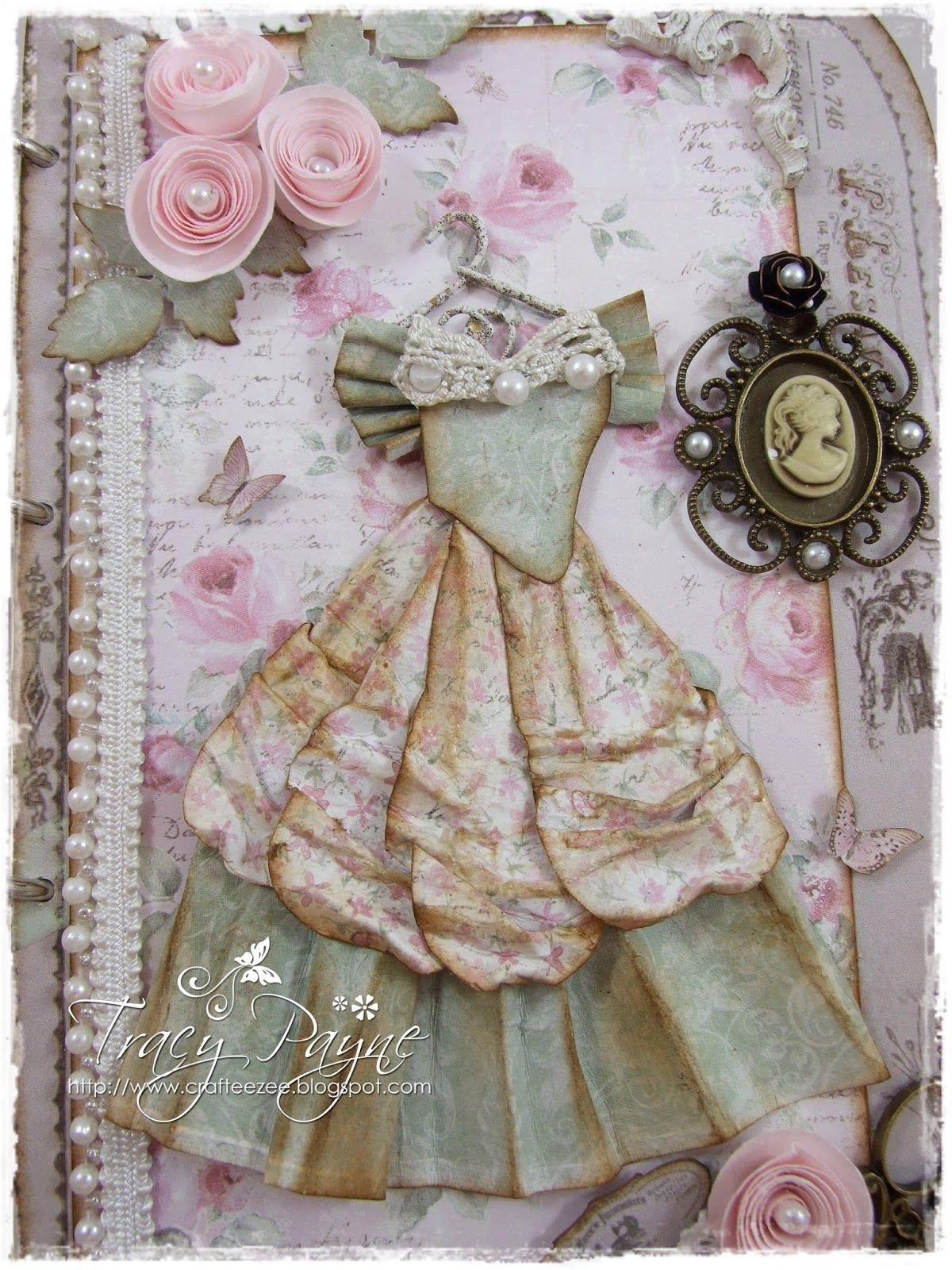 Для открыток, открытка платье скрап