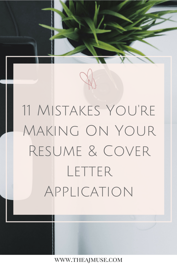 Cover Letter Mistakes 11 Mistakes You're Making On Your Resume And Cover Letter