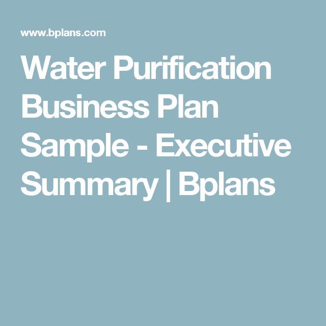 bottled water business plan free download