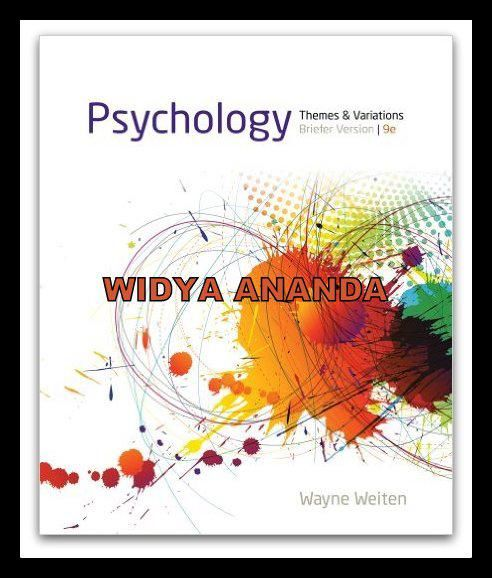 Jual Psychology Themes And Variations Briefer Version 9th Edition Baru Buku Import Online Murah Psychology Theme Version