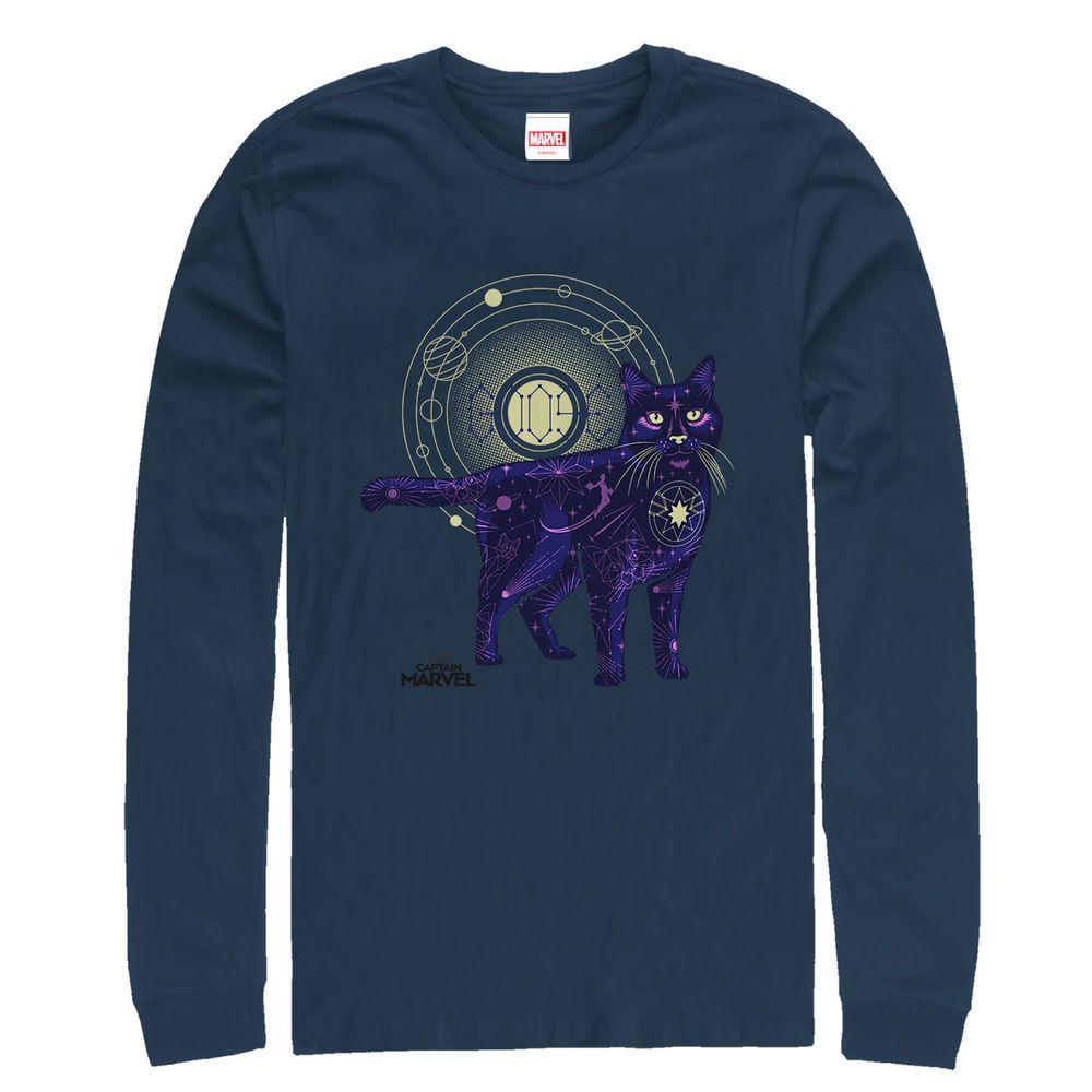 e3bebba35a7 Marvel Captain Marvel Celestial Goose Cat Mens Graphic Long Sleeve Shirt -  Cat Tshirt  cat  tshirt  catshirts
