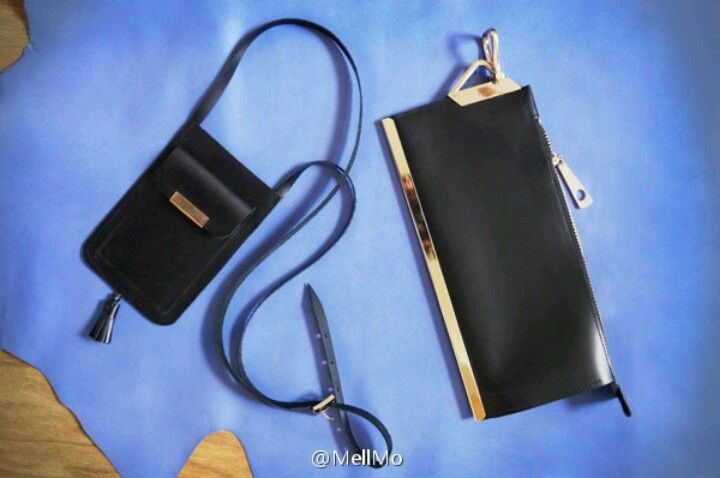 handmade leather phone case and clutch by mell,only sold in Taobao,China.