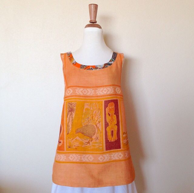 Fisherman Frock Made From A Vintage Linen Tablecloth I