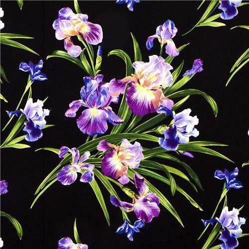 Irresistible Iris Irresistible Iris Cream Multi From Fabricdotcom Designed By Ann Lauer Of Flower Backgrounds Purple Flower Background Textile Pattern Design