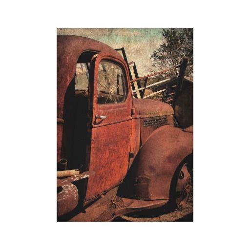 Abandoned Transportation, Old Abandoned Truck Canvas Print   Zazzle.com