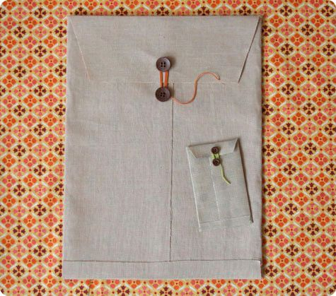 wednesdays: fabric envelopes Tutorial & Template:  Fabric EnvelopesTutorial & Template:  Fabric Envelopes